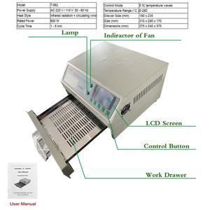 Image 2 - Puhui T962 800W 리플 로우 장비 T962 적외선 리플 로우 오븐 퍼니스 IC 히터 BGA SMD SMT 재 작업 스테이션