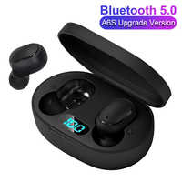 TWS Wireless Bluetooth 5.0 LED Display Earphone for Redmi Airdots Button Control Waterproof Noise Cancelling Headset PK A6S E6S