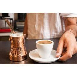 Sojowego młotkiem grubości miedzi srebrne turecki dzbanek do kawy dżezwa C3 3 kubki w Dzbanki do kawy od Dom i ogród na
