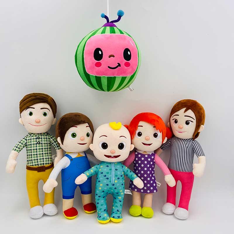 BIG JJ Music Plush Doll Cocomelon Pillow Soft Toys for Baby Plush JJ Doll Educational Stuffed Sing Toys Cute Kids Gift 4