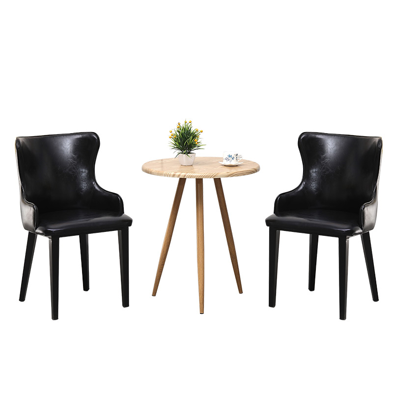 Light Luxury Restaurant Chair Modern Minimalist Home Hotel Negotiation Table And Chair Nail Tea Shop Solid Wood Back Chair