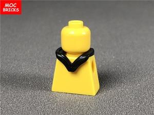 Image 3 - 10 ピース/ロットmocレンガヘッドギアフードヘルメット折り畳む図アクセサリーフィットと 30381 & 15428 ビルディングブロックのおもちゃ子供ギフト