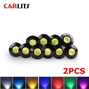 Car Styling 2pcs 23MM Ultra Thin LED Eagle Eye Daytime Running Lights 12v Backup Reversing Parking Signal Automobiles Lamps drl