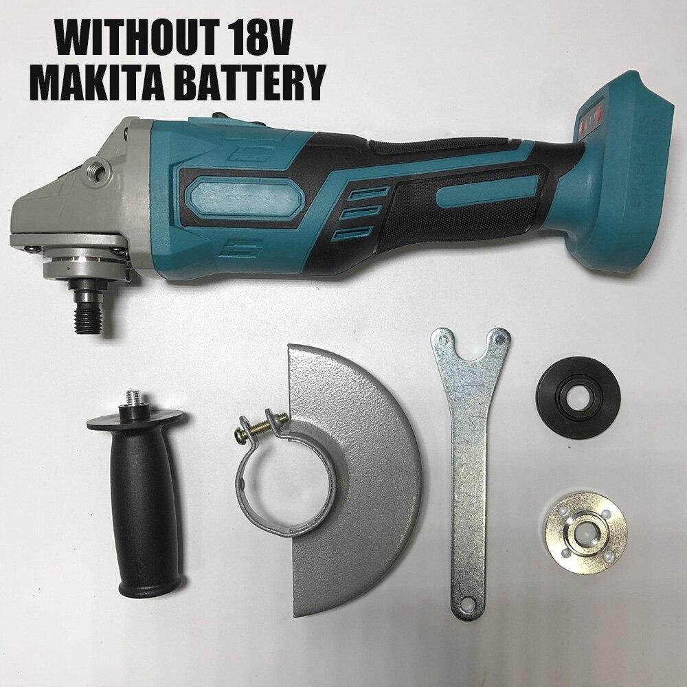 For MAKITA 18V 125mm Brushless Cordless Impact Angle Grinder Power Tools Polishing Machine Angular Grinder Without Battery