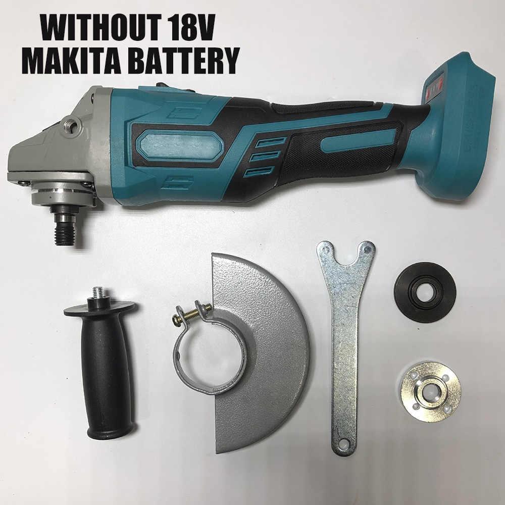 Para MAKITA 18V 125mm sin escobillas amoladora de ángulo de impacto inalámbrico herramientas eléctricas máquina pulidora amoladora Angular sin batería