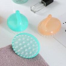 AMSIC силиконовая ванна спа Массажная щетка для похудения Массажер для тела Шампунь Щетка для массажа головы гребень для мытья волос щетка для душа
