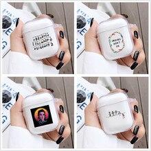 Doux choses étranges étui pour AirPods 1 2 housse pour Apple AirPods Transparent Silicone boîte de charge couverture peau accessoires
