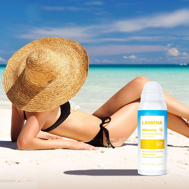 Sunblock Spray Sunscreen Protect Skin Moisturizing Whitening Spray Brighten Facial Anti-UV Skin Health Care
