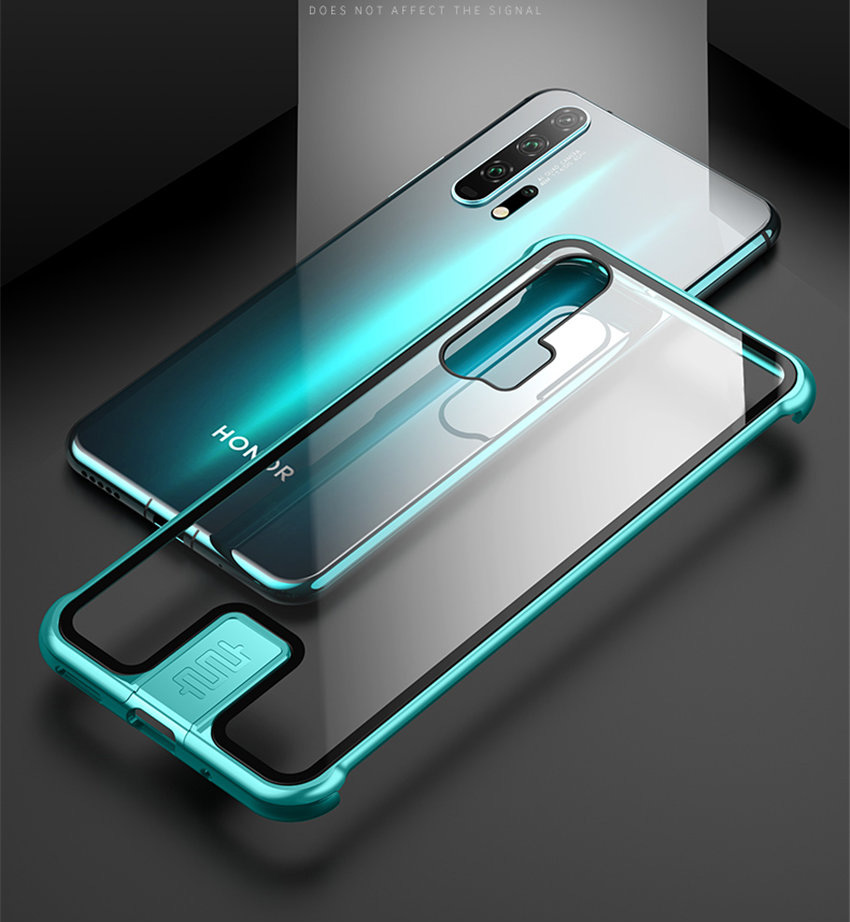 R-just Borderless Series Metal Frame Phone Case For Huawei Honor 20 Protect Case Glass Back Cover Cases For Huawei Honor 20 Pro (8)