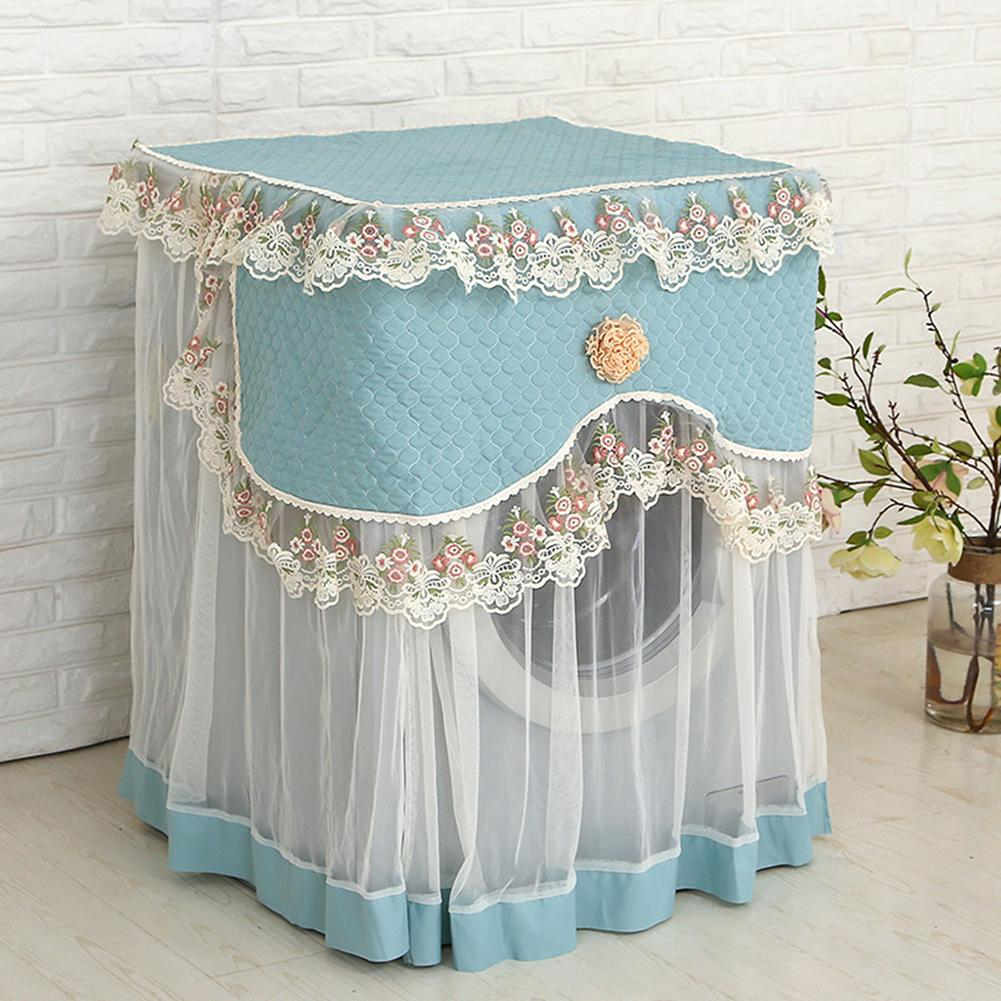 Lace Flower Dust Cover Washing Machine Protection Front Household Soft Lace Protective Cover Washing Machine Protection Fabric|Washing Machine Covers| |  - title=