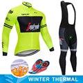 TREKKING sıcak 2019 kış termal polar bisiklet kıyafetleri NW erkek forması takım elbise açık sürme bisiklet MTB giyim önlük pantolon seti