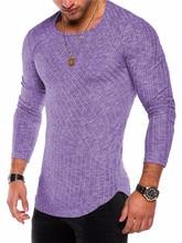2019 fashion striped streetwear men long sleeve t-shirts o-neck desgin cotton tshirt slim fit