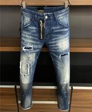 2021 New Designer DSQUARED2 Denim Jeans Holes Trousers Pants Biker Jeans HOMME Ripped Jeans COOLGUY D2 Jeans DSQ2 Men Pants 9615