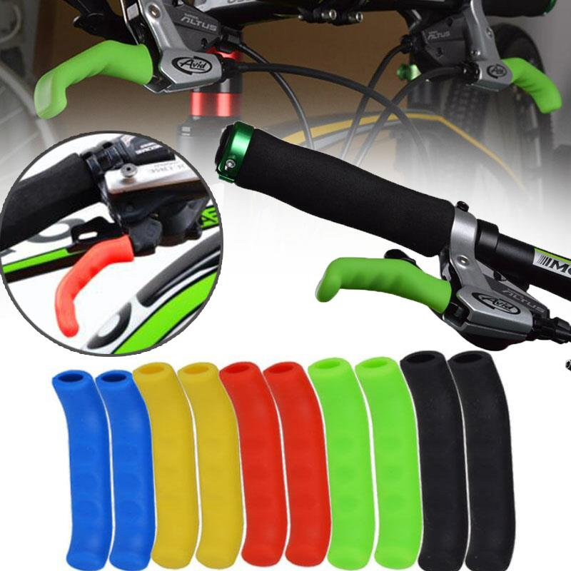1 Pair Cycle Bicycle <font><b>Bike</b></font> <font><b>Brake</b></font> <font><b>Lever</b></font> <font><b>Grip</b></font> Protectors Handle Rubber Covers image