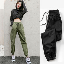 Autumn Women Cargo Sweatpants Black Cotton Baggy Casual Pants Spodnie Dresowe Damskie Street Wear Pantalon Femme Taille Haute