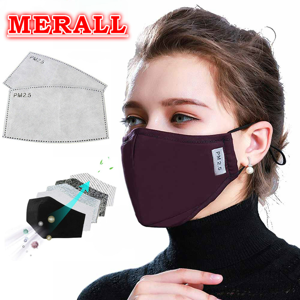 PM2.5 Cotton Adult Mouth Mask KN95 Anti Dust Mask Activated Carbon Filter Windproof Mouth-muffle Bacteria Proof Flu Face Masks