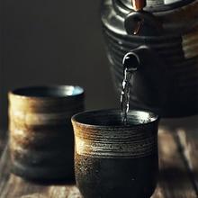 RUX мастерской японский Стиль чайная кружка, кружка для воды столовых сервизов из Керамика расписанные вручную и рисунком «кунг-фу» чашка Ку...