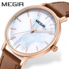 MEGIR Ultra Thin Women Watches Top Brand Luxury Leather Quartz Watch Fashion Casual Waterproof Sport Watch Woman Reloj Mujer стоимость