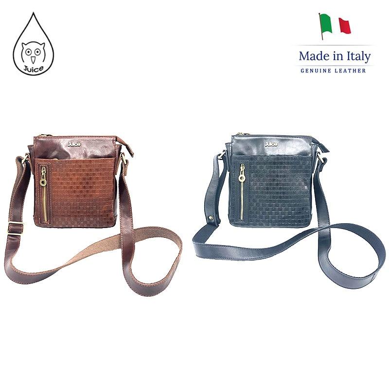 JUICE 2020 Spring,made In Italy, Genuine Leather Bag, Men Bag,men Cross Body/Shoulder Bags,Italian Cowhide,112224