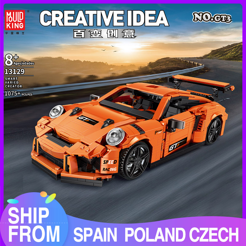 Mould King Creative Moc Technic GT3 RSR Speed Racing Sport Car Model Building Blocks Lepining Bricks Kids Toys Christmas Gifts