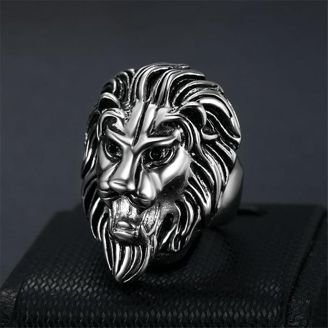 Chevalière lion gitan