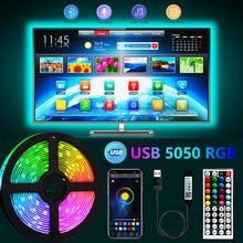 USB Bluetooth LED Strip Light 5050 SMD 5V RGB Lights Flexible LED Lamp Tape Ribbon RGB TV Desktop Screen BackLight Diode Tape