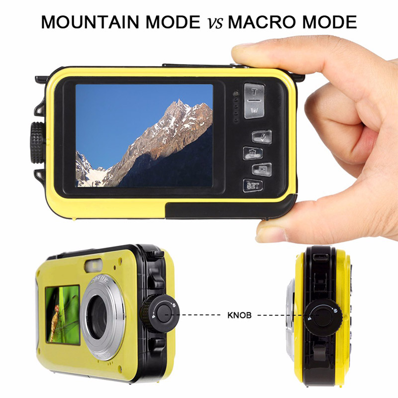 48MP Underwater Waterproof Digital Camera Dual Screen Video Camcorder Point and Shoots Digital Camera VH99 image