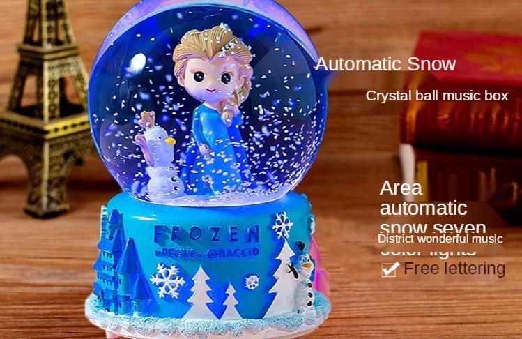 Bola de cristal frozen, frozen, desenhos animados,