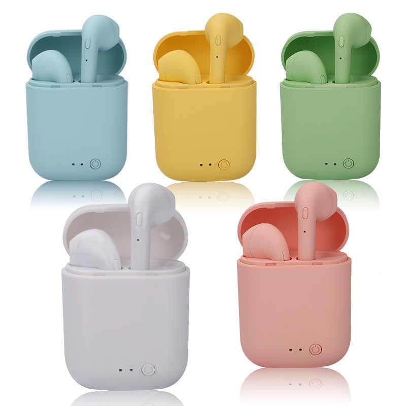 Mini-2 TWSหูฟังไร้สายบลูทูธ 5.0 หูฟังTWS Matte Macaronหูฟังพร้อมกล่องชาร์จMicชุดหูฟังไร้สายหูฟัง