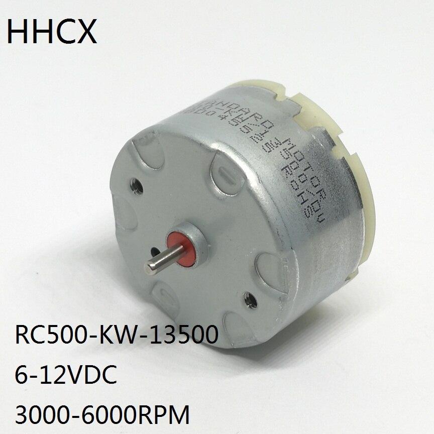 1PCS DC Motor RC500-KW-13500 micro DC motor 500 precious-metal brush motor RC500-KW 6-12VDC 3000-6000RPM