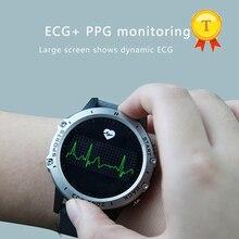 Smartwatch masculino e feminino ecg + ppg, monitor cardíaco e de pressão sanguínea ip68, oxigênio do sangue, pk dt78 h9 h02 l8 l7