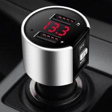 Modulador auxiliar de Audio para transmisor FM con Bluetooth, Kit de manos libres con Bluetooth, Cargador de Coche Rápido USB Dual, Radio de coche, reproductor MP3