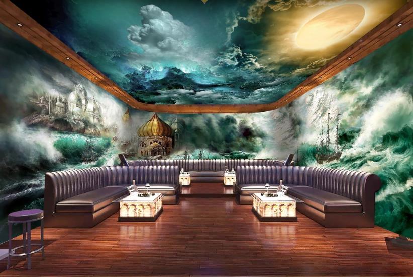 Personnalisé 2020 papier peint pour mur 3d tempête mur maison photo papier peint salon chambre murale papier peint 3d toute la maison fond