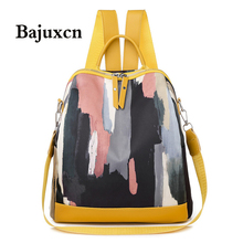 Brand designer female PU leather backpack female casual shoulder bag youth bag fashion  2019 new leisure travel bag