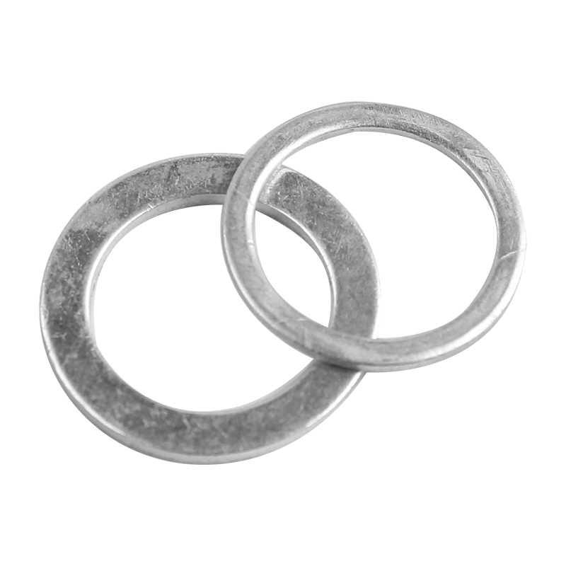 20 peças 10x14x1mm de alumínio arruelas gaxeta plana metal arruela junta de vedação de alumínio anéis juntas