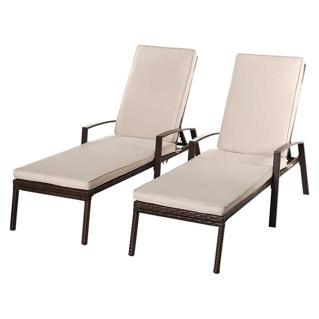 2 Pcs Adjustable Back Sun Lounge Chairs  3