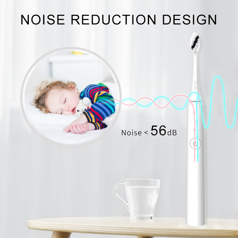 SEAGO, cepillo de dientes eléctrico sónico, recargable por USB, actualizado, ultrasónico, cepillo de dientes automático, blanqueador impermeable para adultos, el mejor regalo - 2