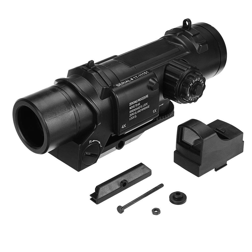 4x Magnifier Scope Red Dot Sight For Jinming Gel Ball Blaster Water Accessories