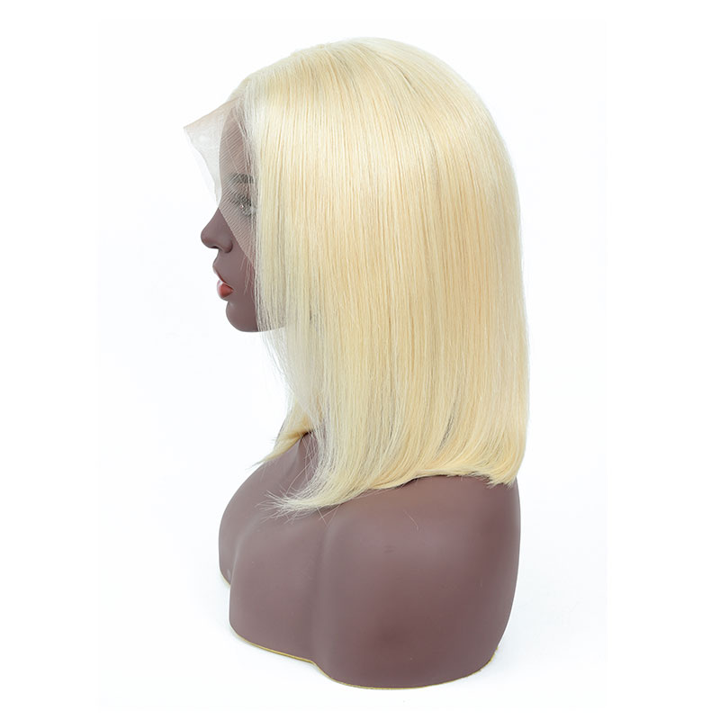 Bestsojoy 613 Blonde Lace Frontal Wig Bob Wig Short Human Hair Wigs For Black Women Brazilian Ombre Lace Front Human Hair Wigs-in Human Hair Lace Wigs from Hair Extensions & Wigs    2