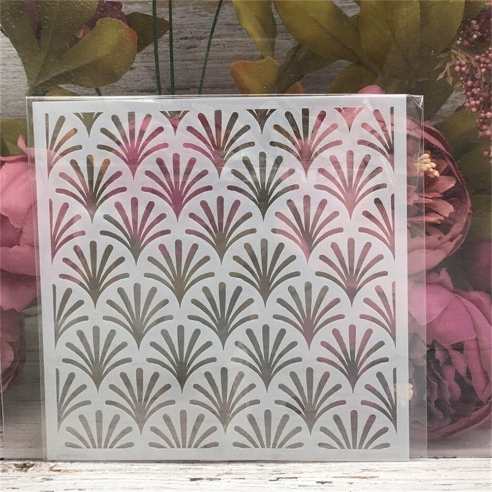 15*15cm Grass Texture DIY Layering Stencils Wall Painting Scrapbook Coloring Embossing Album Decorative Template