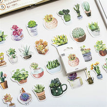 45pcs/pack Botany Totem Stationery Stickers Pack Posted It Kawaii Planner Scrapbooking Memo Stickers Escolar School Supplies(China)
