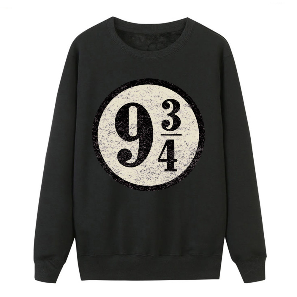 Platform 9-3/4 Hogwarts Pullover Hoodies Women Sweatshirts Vintage Platform Nine And Three Quarters Female Hooded Sweatshirts