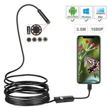 HD 1080P Mini Android Camera Nội Soi 1M 2M 3.5M 5M MicroUSB/USB/Loại C Kiểm Tra Máy Quay Video Loài Rắn Borescope Ống