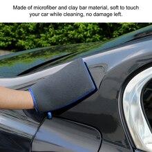 2 adet temiz nano ölçekli taşlama çamur bulaşık eldivenleri mikrofiber hiçbir çizik Mitt yıkama dekontaminasyon kumaş araba parlatma için