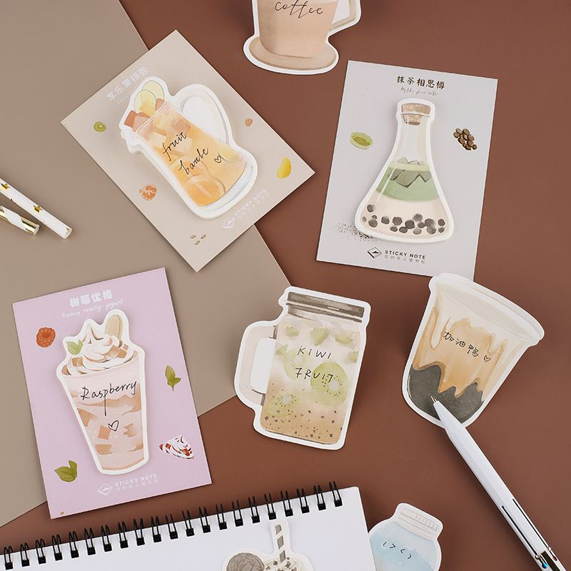 30 Sheets Lovely Life Cup Memo Pad Sticky Notes Paper Sticker Notepad Kawaii Student Stationery Office School Supplies