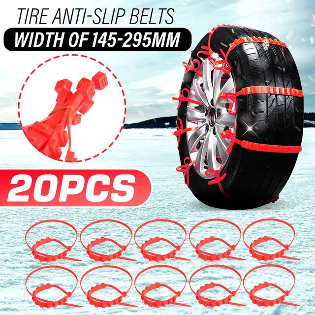 10/20/30x Universal Winter Tires Wheel Snow Chains Car Anti-Skid Tyre Chain Winter Outdoor Roadway Safety Driving Accessories