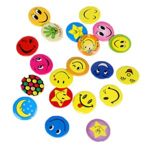 Say Hi Party Favor Gift Cute Smile Brooch 45mm Badge Pin Service Smile Parent-Child Game Hotel Ornament(China)
