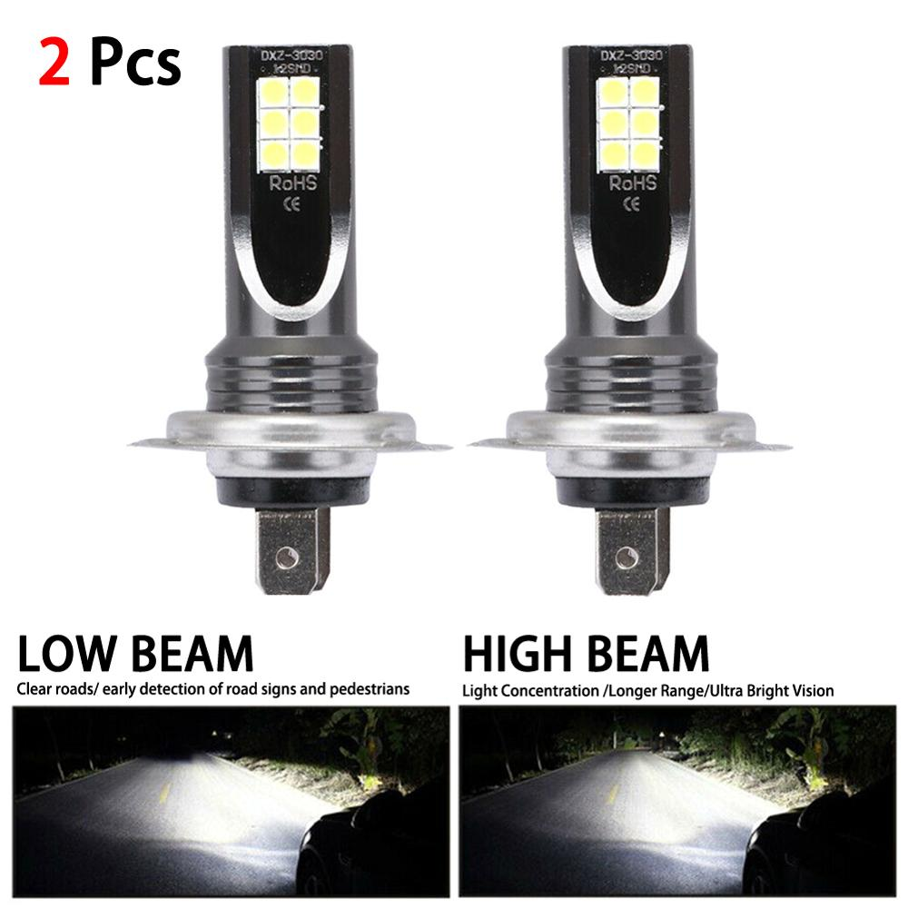 H7 LED Car Headlight 12V 6000K 24000LM Conversion Globes Bulbs Beam <font><b>110W</b></font> IP68 Waterproof CSP Chip Fog light Bulb image