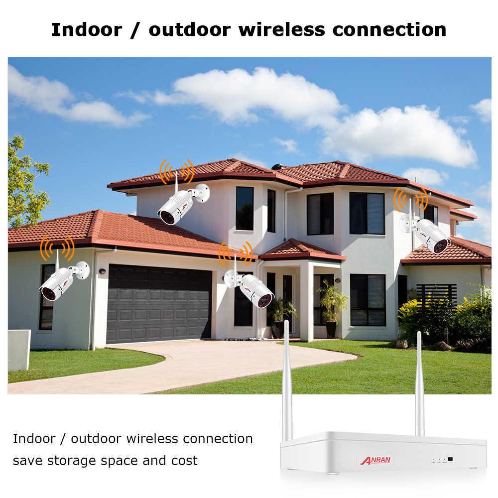 ANRAN bezprzewodowy 2MP CCTV bezprzewodowy System zestaw monitoringu NVR na świeżym powietrzu P2P Wifi zabezpieczenia IP zestaw kamerowy wideo zestaw do nadzorowania widzenie w nocy