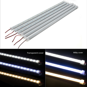 Image 4 - 10pcs*50cm Wholesale SMD 5730 LED Hard Rigid LED Strip Bar Lights Aluminium shell with PC Cover LED Bar Light 5730